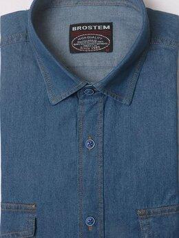 Рубашки - Джинсовая рубашка мужская с длинным рукавом, 0