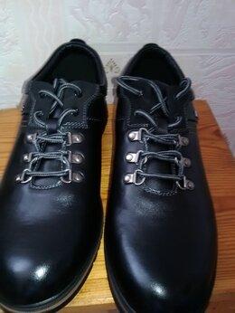 Ботинки - Новые мужские кожаные ботинки, 0