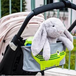 Аксессуары для колясок и автокресел - Новая сумка на коляску (серая, с крокодилом), 0