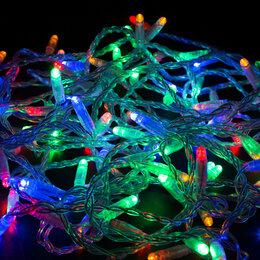 Новогодний декор и аксессуары - Гирлянда светодиодная типа Нить, 0