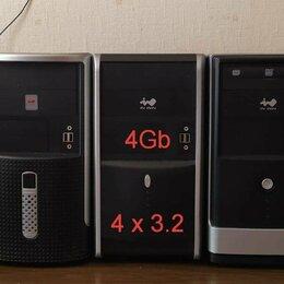 Настольные компьютеры - 4яд Шустрый компьютер 4гб + ЖК монитор и т.д., 0
