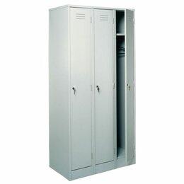 Мебель для учреждений - Шкаф трехсекционный  для одежды ШРМ-33, 0