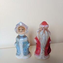 Статуэтки и фигурки - Фигурка Деда Мороза и Снегурочки из селенита, 0