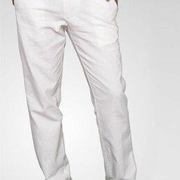 Брюки - Мужские белые брюки W5796 WHITE, 0