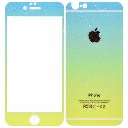 Защитные пленки и стекла - Защитное стекло iPhone 6/6S 2,5D перед + зад градиентное Вид 2 /в упаковке/, 0