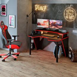 Компьютерные и письменные столы - Компьютерный игровой стол для геймера 'Turbo W 1400', red, 0