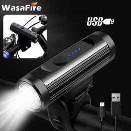 Фонари - Велосипедный фонарь с аккумулятором, USB зарядка, 0