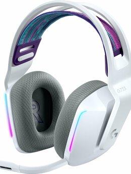 Наушники и Bluetooth-гарнитуры - Игровая гарнитура Logitech G733 Lightspeed Белые, 0
