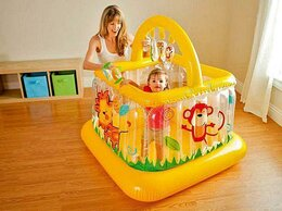 Надувная мебель - Детский надувной манеж INTEX, 117х117х117 см…, 0