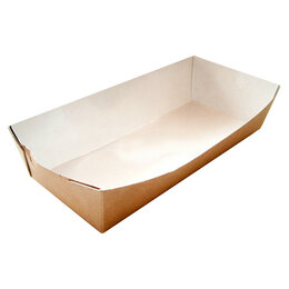 Одноразовая посуда - Лоток ECO TRAY 800 мл «Крафт» для фаст-фуда 100…, 0