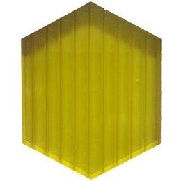 Поликарбонат - Сотовый поликарбонат 10мм.лимон 6м, 0