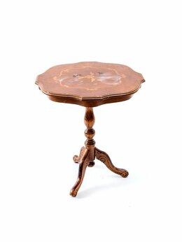 Столы и столики - Подсобный столик с цветочным маркетри на треноге, 0