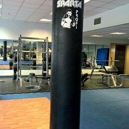 Тренировочные снаряды - Боксерский мешок ДЛИННЫЙ 190см. профессиональный, с креплениями., 0