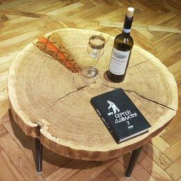Столы и столики - журнальный столик из слэба дуба, 0