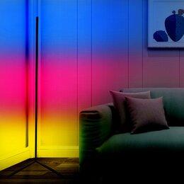 Торшеры и напольные светильники - Угловой напольный светильник RGB торшер с ПДУ, 0