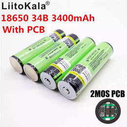 Батарейки - Новые АКБ 3400mah (Panasonic NCR18650B Protected/с платой защиты), 0