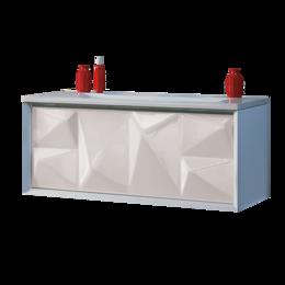 Раковины, пьедесталы - Тумба под раковину Marka One Romb 90П 1 ящик, white, 0