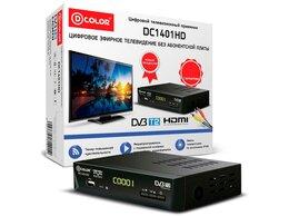 ТВ-приставки и медиаплееры - Цифровой приемник ТВ DVB-T2 D-Color DC1401HD, 0
