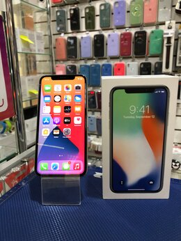 Мобильные телефоны - iPhone X 64GB Silver б/у, 0
