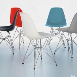 Стулья, табуретки - Стул Eames пластик серый, белый, ноги металл, 0