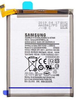 Аккумуляторы - Аккумулятор Samsung A70 2019, SM-A705FN, 0