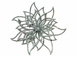 Комнатные растения - Пуансеттия ЛУЧИСТАЯ на клипсе, серебряная, 14х5…, 0