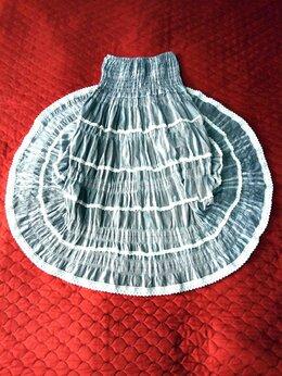 Платья - Нарядное платье-юбка с белым кружевом, 0