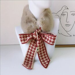Шарфы и платки - Горжетка накладной воротник шарф меховой , 0