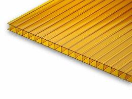 Поликарбонат - Сотовый поликарбонат оранжевый 6000х2100х10мм, 0
