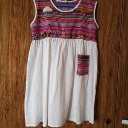 Платья и сарафаны - Платье натуральный хлопок с вышивкой, новое пр. Въетнам, рост 134-140, 0