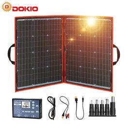 Солнечные батареи - Солнечная панель Dokio 110W складная, 0