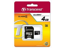 Карты памяти - Флеш карта microSD 4GB Transcend microSDHC Class 4, 0