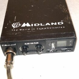 Рации - Радиостанция автомобильная на запчасти Midland alan 100 plus, 0