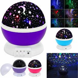 """Люстры и потолочные светильники - Ночник-проектор """"Звездное небо"""" вращающийся, 0"""