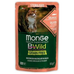 Корма  - Monge BWild Cat Sterilised Salmon Shrimps…, 0