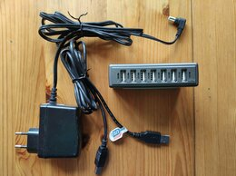 USB-концентраторы - USB хаб разветвитель 7 портов USB 2.0, 0