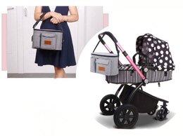 Аксессуары для колясок и автокресел - Новая сумка для мамы на коляску (серый меланж, с…, 0