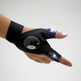 Средства индивидуальной защиты - Перчатка с LED-фонариками, 0