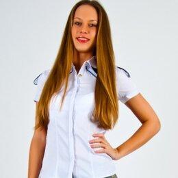 Блузки и кофточки - Белая строгая блузка с коротким рукавом, новая, 0