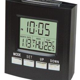 Часы настольные и каминные - Часы электрические VST7027С  (будильник,температур, 0