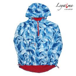 Пальто и плащи - Голубая детская ветровка-анорак с принтом, на…, 0