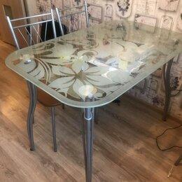 Столы и столики - Стол стеклянный 1100*700 ножки металлик, 0