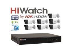Камеры видеонаблюдения - Видеонаблюдение HiWatch (IP-POE) на 7камеры 2Mxp, 0