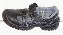 Сандалии - сандалии черные с металл. подноском опт, 0