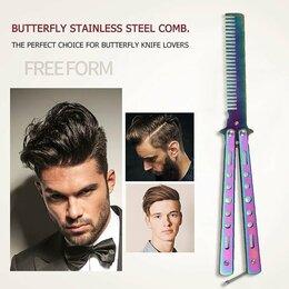 Расчески и щетки - Складной нож-бабочка, расческа для парикмахерской, инструмент для укладки, 0