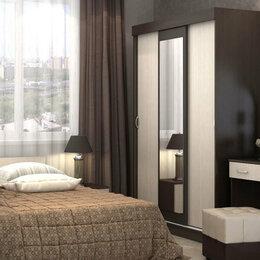 Кровати - Кровать с матрасом и шкаф купе трехдверный с зеркалом, 0