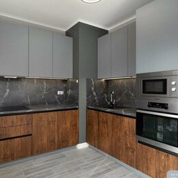 Шкафы, стенки, гарнитуры - Стильная кухня с матовыми фасадами, 0