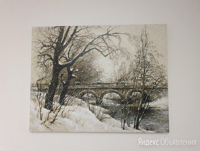 """Картина маслом на холсте """"мост"""" по цене 5000₽ - Картины, постеры, гобелены, панно, фото 0"""