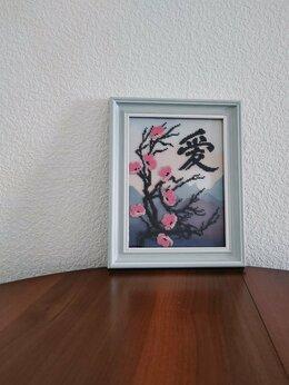 """Картины, постеры, гобелены, панно - Картина бисером """"Сакура"""", 0"""