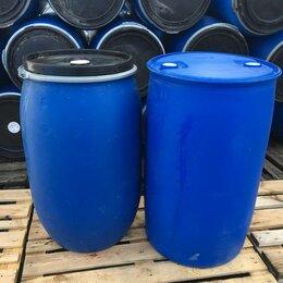 Бочки - Бочка пластиковая 227 литров (крышка-хомут) б у, 0